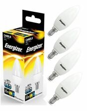 4x Energizer E14 SES Candle LED Light Bulb 250lm Opal 3.4W=25W Warm White 2700k