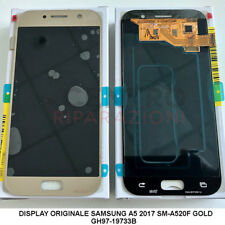 DISPLAY LCD TOUCH SCREEN ORIGINALE SAMSUNG GALAXY A5 2017 SM-A520F GOLD ORO