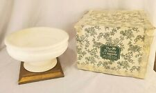 Vintage Bombay Company Pedestal Bowl on Stand 1165559 White Faux Marble 1991