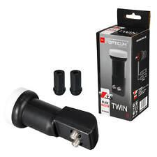 Opticum Twin LNB 0,1 db Full HDTV UHD HD 3D 4K LMB SAT 2 Teilnehmer Wetterschutz