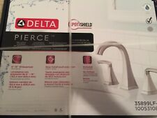 Delta Pierce Widespread Bathroom Faucet in SpotShield Brushed Nickel, 35899LF-SP