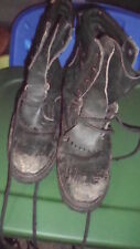 Vintage Original Vibram Fireman Wildland Leather Boots Men's Size 9E Black