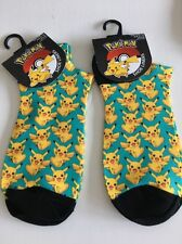Pokemon Trainer Socks 4 5 6 7 8 Shoe Liner Christmas Stocking Pikachu