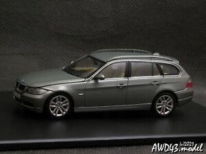 BMW 3er E91 Touring 2005 grey 1-43 Dealer = Minichamps 80420394355 RARE!