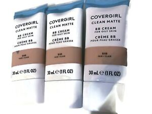 CoverGirl FAIR 510 Clean Matte BB Cream ---SET OF 3--- NEW Full Size 1oz Each