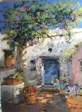 """New ListingOriginal Fine Art """"Home in Capri"""" by Raimondo Roberti Coa"""