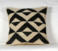 2 Pcs Jute Pillow Cover Throw Indian Jute Cushion cover Handmade Kilim 1089-B