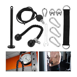 Sports Fitness Pulley Cable System Lifting Machine Triceps Rope Weight Workout