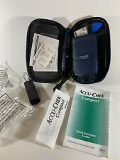 Accu-Chek Compact Blood Glucose Monitoring meter System SOLD AS USED Travel Case