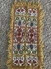 """Vintage Italian Silk Tapestry Lamp Table Cover 28"""""""