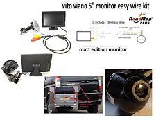 mercedes vito viano Rear reversing camera 5 inch monitor parking
