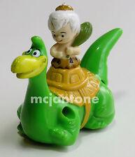LOOSE Denny's 1991 Flintstone Dino Racer BAMM BAMM RUBBLE Dinosaur Pull Back CAR