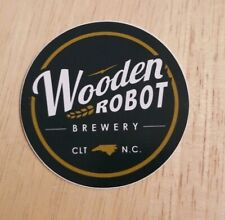 Wooden Robot Brewery Charlotte North Carolina Beer Lovers Sticker decal Bar Pub