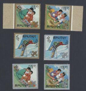 AOP Bhutan #86-86e 1967 Boys Scouts set of 6 MNH