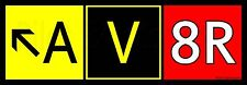 "9x3"" AV8R (Aviator) Airport Taxiway Sign Bumper Sticker! Decal for Pilots!"