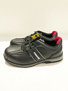 New Ladies Parade Elisa Black Lace Up Steel Toe Safety Trainer UK Size 3