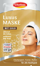 10 x 5ml Schaebens luxury moisturizing mask with gold, champagne and caviar New
