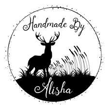 Sello de goma Láser Personalizados-Stag y hierbas hecha a mano por