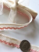 Vintage Pink Dainty Trim Mesh Doll Edging Lace Clothes Art 1 Yard