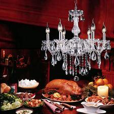 elegante lampadario a soffitto lampada sospesa 6 luci a sospensione cristalli