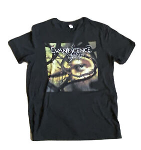 """EVANESCENCE """"Anywhere But Home"""" Charcoal Grey T-Shirt (Large)"""