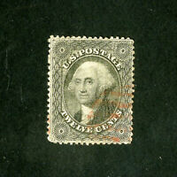 US Stamps # 36 VF Light red cancel w/ blazing color Scott Value $320.00