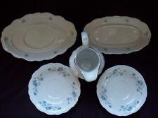 Johann Haviland Bavaria Germany Fine China Blue Garland Pattern, 5 misc pieces