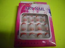 New ! 12 PK  False Nail Art Manicure  Fashion Easy to Apply Art Nail Opoola