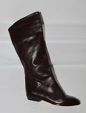 VTG VINTAGE BANDOLINO SZ 5 M DARK BROWN RIDING BOOTS MADE IN ITALY