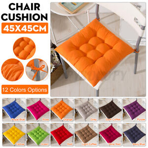 Chair Seat Cotton Cushion Square Soft Thick Pad Padded Home Office Decor 17x17''
