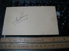 Fred Perry Tennis 1934 Wimbledon & US Open Champion Signature Autograph Postcard