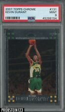 2007 Topps Chrome #131 Kevin Durant Supersonics RC Rookie PSA 9 MINT