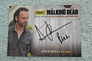 2016 The Walking Dead Season 4 Andrew Lincoln as Rick Grimes Autograph card AMC