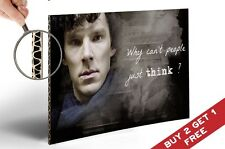 SHERLOCK HOLMES Quote A4 POSTER Why can't people just think Benedict Cumberbatch
