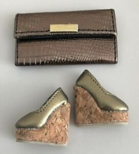 """GOLD SHOES AND BAG FROM UNDERCOVER ANGEL 12"""" POPPY LTD ED FASHION ROYALTY DOLL"""