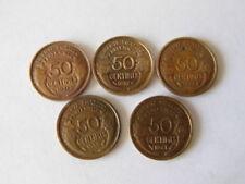 LOT 5 pieces 50 CENTIMES MORLON 1931 1932 1933 1939 1941