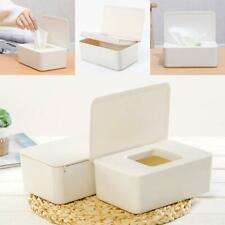 Plastic Wet Wipes Dispenser Holder Tissue Paper Box Case with Lid Home Storage