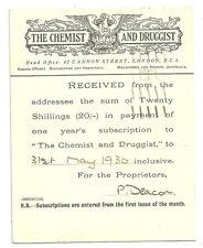 1/2D George V Post Card + 1D London 1929 The Chemist And Druggist Phoenix Logo