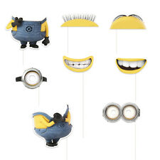 8 Despicable Me Minions Birthday Party Favor Treat Photo Props W/Sticks