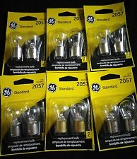 (12) GE 2057 Miniature Lamp Bulb 27w 7w Dual Contact 12 volt S8 12v Free Ship!!