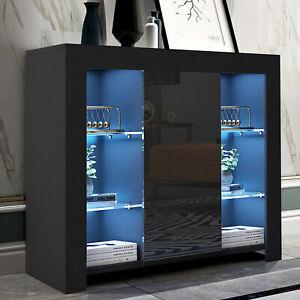 High Gloss LED Sideboard TV Unit Cabinet Cupboard Display Living Room Led Light