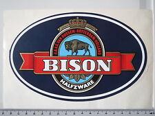 Aufkleber Sticker Bison - Marke - Tabak - Halfzware - J&A.C. van Rossem (M1066)