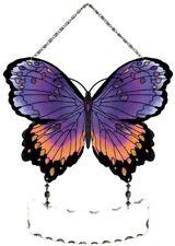 Joan Baker Designs Hand Painted Suncatcher-SFS2005-Purple/Orange Butterfly New