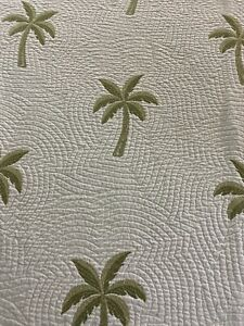 Vintage Waverly Palm Tree Matelasse Coverlet 98x92 queen #57