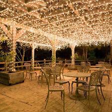 Lichterkette 50M 400 LED Weihnachten Partys Warmweiß Innen Außen Beleuchtung Neu