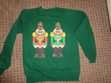 HANES-LADIES VINTAGE christmas SWEATER JUMPER SWEAT TOP SIZE 14-16-18-20 PARTY