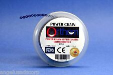 Dental Orthodontic Power Chain Elastic Short DARK BLUE ORTHOM