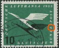 Bund 206 I Plattenfehler gestempelt BRD Michel 190,00 € used