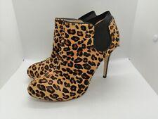 dietro Zeppa Scarpe-MSRP $120 Guess Russoly Brown Leopard vitello capelli ALL