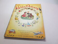 The Golden Dictionary a Giant Golden Book hugh oversized vintage hardcover